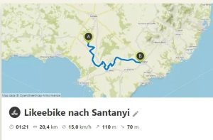 Likeebike-nach-Santanyi